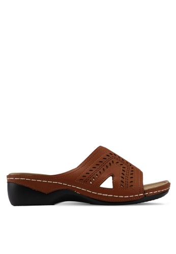 Alfio Raldo brown Slip On Sandals 43D84SH13A2CA7GS_1