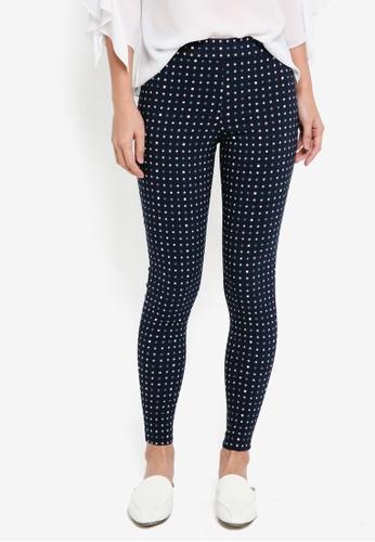 Dorothy Perkins blue Mini Teal Tile Skinny Trousers B1766AA1417D8AGS_1