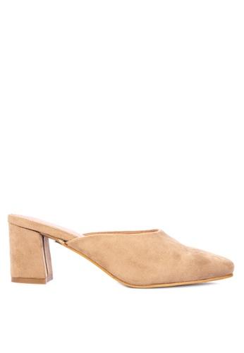 f28909d48aa Shop Rock Rose Block Heel Mules Online on ZALORA Philippines