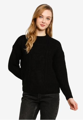 Vero Moda black Presleyalpine Long Sleeve O-neck Sweater CA325AA51BBFFDGS_1
