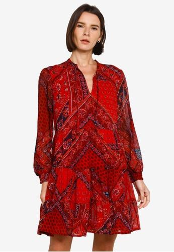 SUPERDRY 紅色 Tie Shirt Dress - Original & Vintage EF28BAA27A568CGS_1
