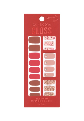 Dashing Diva red Dashing Diva Gloss Gel Strip Manicure Red Marble /Nail Sticker /Nail Wraps 97DE0BE9CDC308GS_1