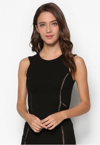 Premium Fitted Trim Detail Top、 服飾、 T-shirtZALORAPremiumFittedTrimDetailTop最新折價