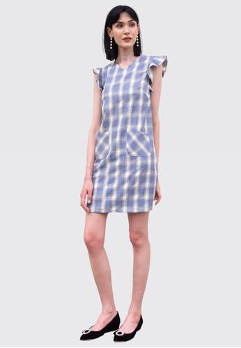 L'zzie blue LZZIE LILLIE DRESS - BLUE 3F8D1AA5ADB634GS_1