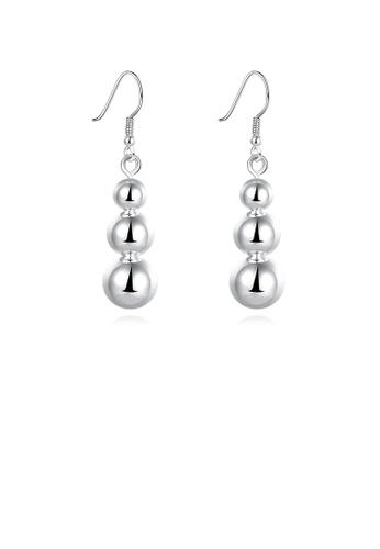 Glamorousky silver Fashion Long Bead Earrings 3BA01ACA648AA2GS_1