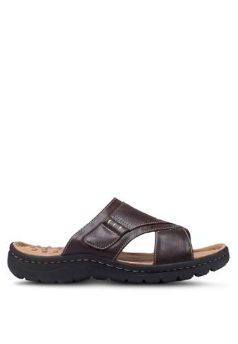 Bata brown Slide-On Sandals A112FSHA1FE199GS_1