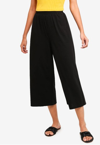 ZALORA BASICS black Basic Jersey Culottes 5072FAA51988E4GS_1