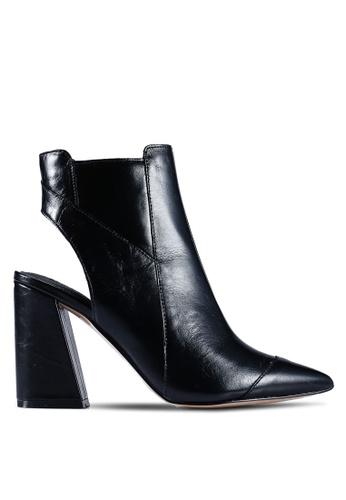 River Island 黑色 尖頭靴子 5D37BSHE5DE60EGS_1