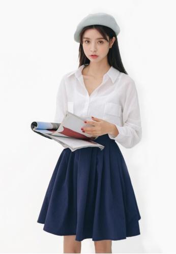 Shopsfashion Textured Cotton Shirt in White SH656AA10LINSG_1