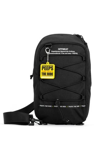 Peeps black Offbeat String Sling Bag 66284ACA0DF47EGS_1