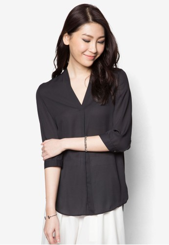 Long Sleeve Blouse, zalora鞋子評價服飾, 上衣