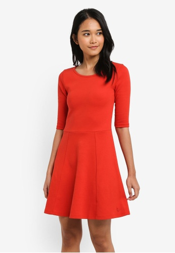 Jack Wills red Tenderton Jersey Skater Dress FFEADAA271EC6AGS_1