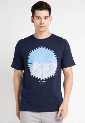Malibu navy T-Shirt MA962AA0WE5XID_1