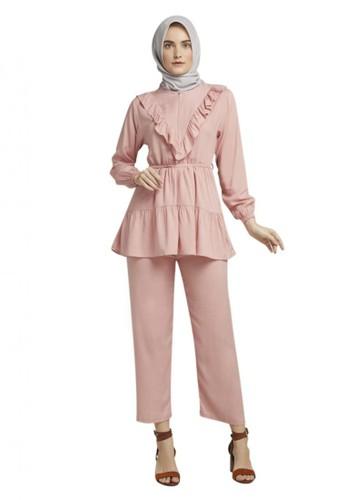 TITAN'S WARDROBE pink Pink Macaron Daily Set EE1F1AAF53DF5FGS_1