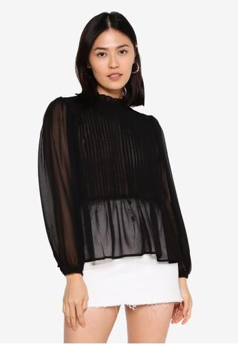 ONLY black Yael Life Long Sleeve Blouse 2B518AAFC02456GS_1