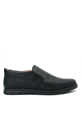 H2Ocean black Qymat Smart Casual Shoes H2527SH0IQZYPH_1