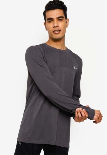 Under Armour grey UA Seamless Long Sleeve T-Shirt ED880AAB8B76EBGS_1