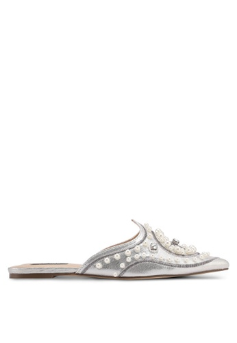 ZALORA silver Pearl Aladdin Sliders 8D9C1SH2531875GS_1