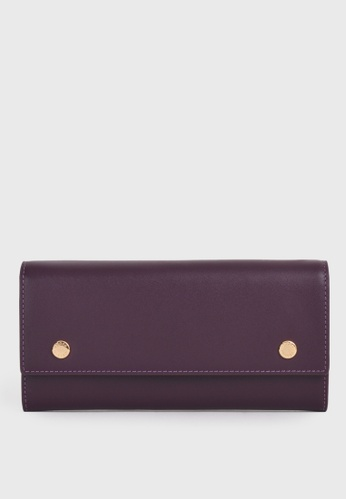 Tocco Toscano purple Holly III Half Fold Long Wallet (Purple) 36BF6AC10F987BGS_1