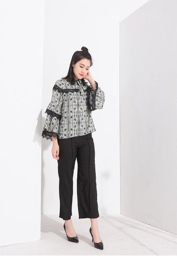 Zafiti multi Two-Piece Blouse And Trouser Set 13F00AAE909AB3GS_1