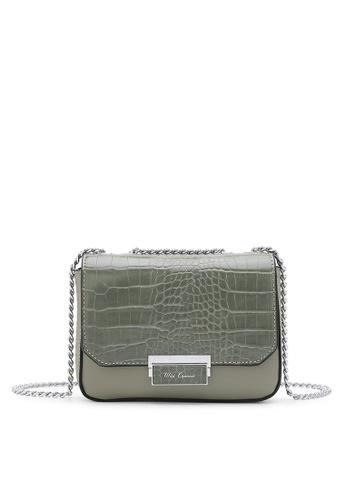 Wild Channel green Women's Sling Bag / Shoulder Bag / Crossbody Bag C2239ACC166DBCGS_1