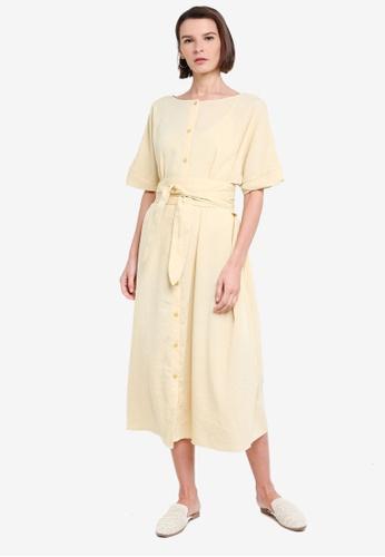 niko and ... yellow Half Sleeve Midi Dress BD657AA4BF6AB9GS_1