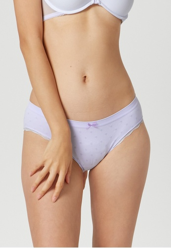 6IXTY8IGHT purple 6IXTY8IGHT Circular Knit Low-rise Hipster Panty PT09602 EEC05US8A59B8EGS_1