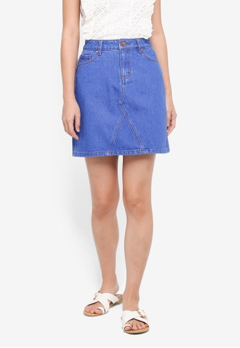 Dorothy Perkins blue Bright Blue Rework Mini Skirt 91A38AA676FD93GS_1