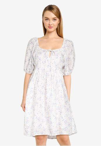 Cotton On white Woven Patty Open Back Tea Dress 529FDAAA0755D5GS_1
