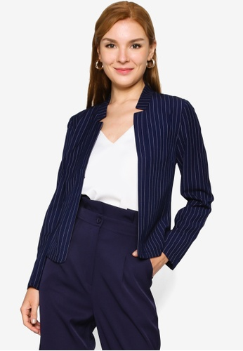 ZALORA WORK navy Cut Out Notch Blazer CD9E3AAFB46AA0GS_1
