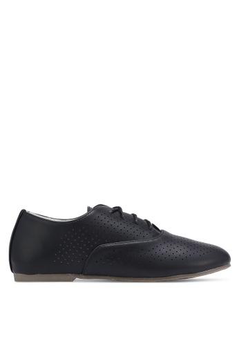 Velvet 黑色 鏤空德比鞋 41C34SHBFB786EGS_1