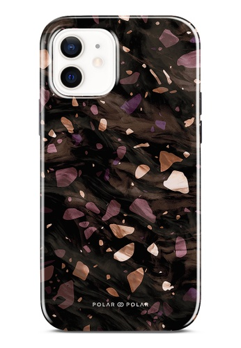 Polar Polar brown Eminence Terrazzo Gem Dual-Layer Tough Case Glossy For iPhone 12 76346AC340C3A2GS_1