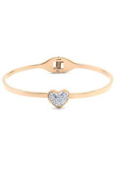 Venice Heart Rose Gold Bracelet Bangle