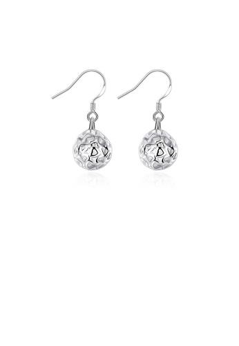 Glamorousky silver Simple Three-dimensional Ball Earrings 8897BAC8469E22GS_1