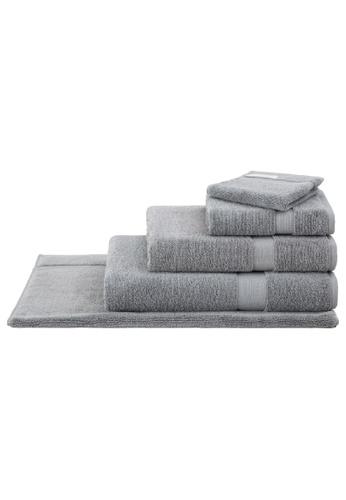 Sheridan blue Organic Cotton with Lyocell Blue Shadow Bath Towel 9773AHLE375454GS_1