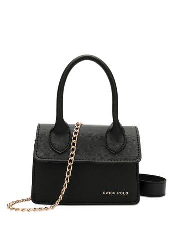 Swiss Polo black Swiss Polo Ladies Chain Sling Bag 623C1AC84AE61BGS_1