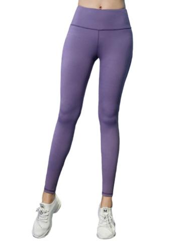 B-Code purple ZYG3041-Lady Quick Drying Running Fitness Yoga Sports Leggings -Purple 67A11AAB220712GS_1