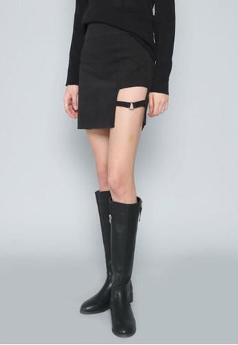 側裁剪迷你短裙, 服esprit台灣飾, 迷你裙