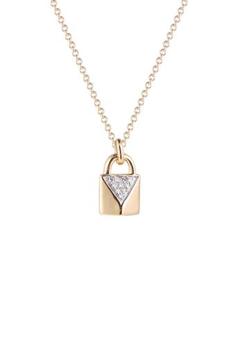 Khoe 黃色 Khoe 14K黃金鑽石鎖吊咀 F6588ACD9DE156GS_1
