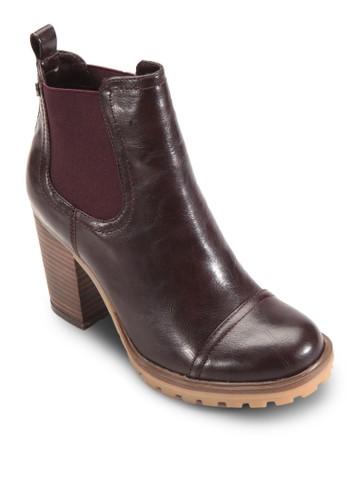 側彈性帶粗跟高跟切爾西短esprit 香港 outlet靴, 女鞋, 鞋