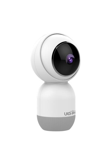 UKGPro 智能攝影機1080P全高清,360°左右視角上下110°旋轉遠程雙向語音夜視智慧家庭網絡攝像頭眼仔智能無線攝錄機監視器防盜WiFi全景1080P超廣角支援智能家居APP IPCAM (USC-F9)