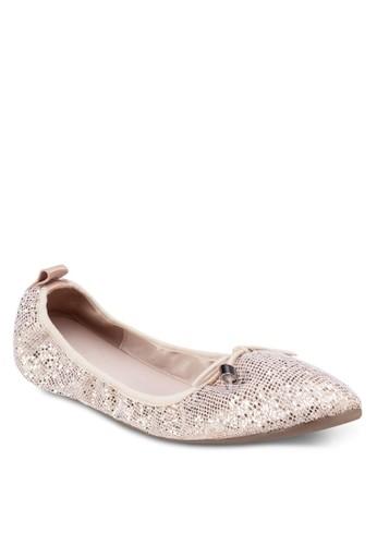 蝴蝶結閃飾娃娃esprit outlet尖沙咀鞋, 女鞋, 鞋