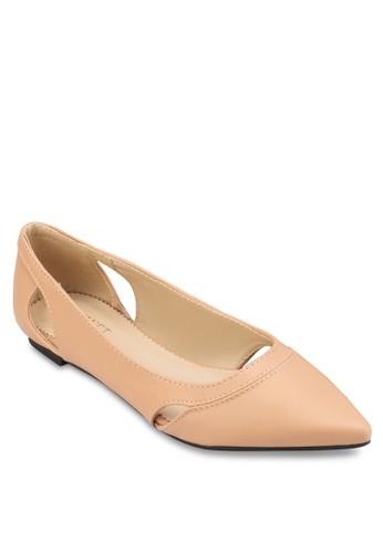 Kendra 鏤空尖頭平底鞋,esprit tsim sha tsui 女鞋, 鞋