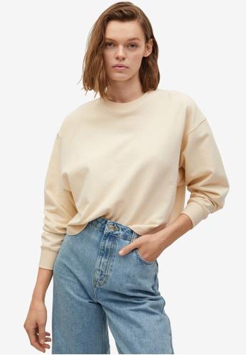 Mango beige Organic Cotton Sweatshirt A4F99AA5D5A9CFGS_1