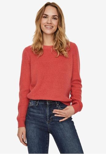 Vero Moda pink and orange Leanna Pullover 28273AABC8C010GS_1