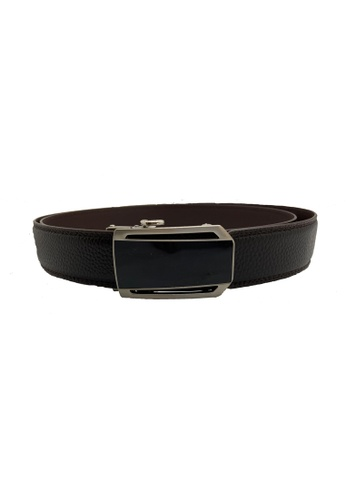 Oxhide brown Genuine Leather Ratchet Belt 35mm with Auto Lock Buckle - ABB4D Oxhide Brown 06485AC6CF5C70GS_1