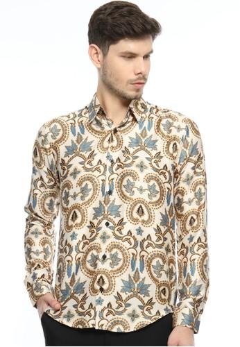 Flike Batik multi Kemeja Batik Tangan Panjang Motif Aurorane Widadari 1C532AA247F2B0GS_1