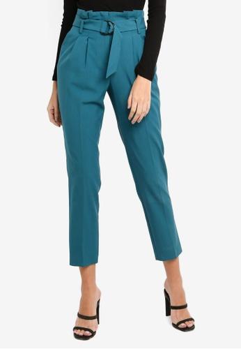 Buy Miss Selfridge Forest Green Paper Bag Trousers Zalora Hk