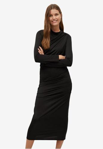 Mango black Draped Dress B58B8AA0598353GS_1