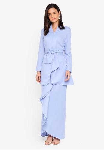 Lubna blue Fitted Sleeve Kebaya 979DBAAD6015BDGS_1